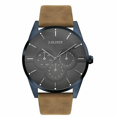 S.oliver Men's Wristwatch Leather SO-3571-LM