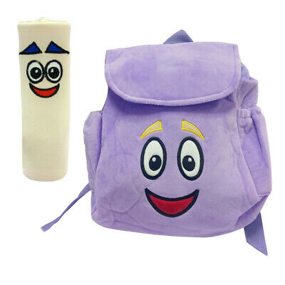 DORA Mr Backpack Plush Face with Map 11 x 10 PURPLE Odzież ... Dora Backpack With Map on dora backpack and map, dora boots backpack map, dora party, dora backpack toy map,