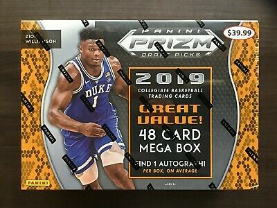 2019 Panini Prizm Draft Picks Basketball Mega Box Factory Sealed