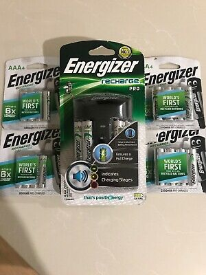 Energizer Pro Recharge Battery Charger with AA and AAA Batteries
