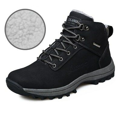 Men's Waterproof Winter Warm Snow Boots Outdoor Hiking Sports Shoes Trainer Size