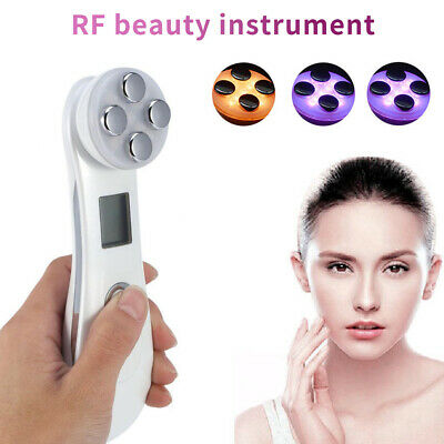 Skin Care Machine Electric RF LED Facial Muscle Stimulator Light Therapy T0U1V