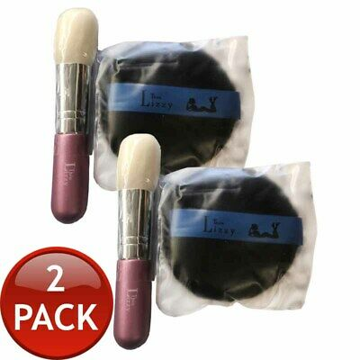 2 x THIN LIZZY PRESSED POWDER BUFFER BRUSH MAKEUP SPONGE WOMEN ACCESSORY TOOL