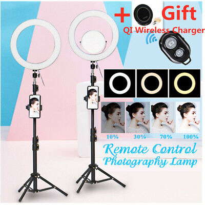 AU 12.6'' 120 LED Ring Light Dimmable bluetooth Mirror for Make up Studio Video