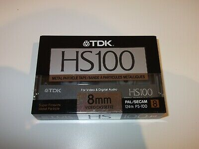 TDK Metal Particle Tape HS100 Video8 8mm Camcorder - New