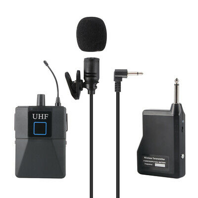 20 Channel UHF Wireless Condenser Microphone System Lavalier Lapel Mic LF891