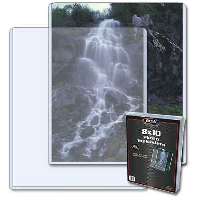 8 X 10 inches Toploader for Photograph/Card Storage & Display x 25 per pack