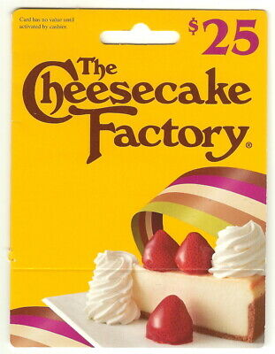 $25.00 The Cheesecake Factory Physical Gift Card!