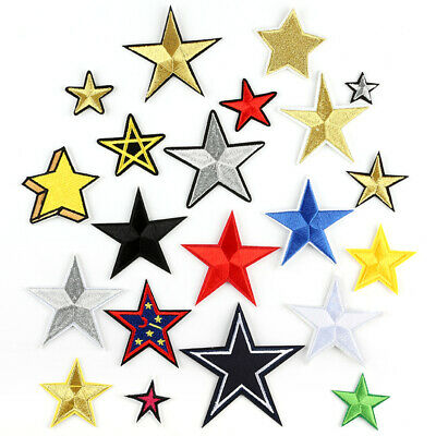DIY Star Pattern Embroidered Sew Iron On Badge Patches Clothing Fabric Applique