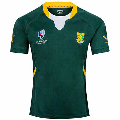 South Africa Rugby World Cup Home Shirt 2019 Rwc Adult Jersey Green White New