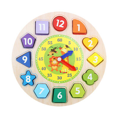 Shape Sorting Clock Kids Learning Puzzle Educational Toys Clock with Numbers