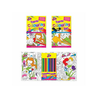 Children's Travel Colouring Set - Travelling Drawing Colouring In Kids Pencils