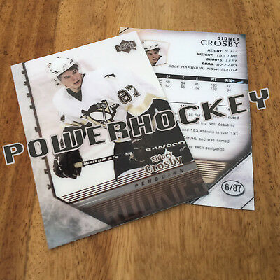 Custom SIDNEY CROSBY 2005-06 Young guns style RC High Quality card only 87 made