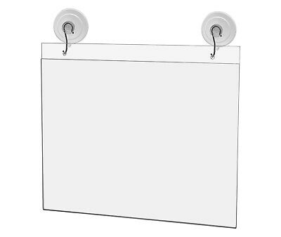 "Ad Frame Sign Holder Wall Mount 10""W x 8""H with Hooks and Suction Cups"