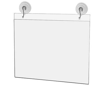 "Ad Frame Sign Holder Wall Mount 11""W x 8 1/2""H with Hooks and Suction Cups"