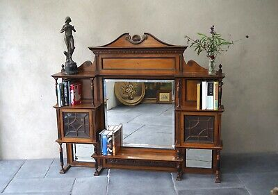 Antique Display Cabinet Bookcase Sideboard Dresser Top - Delivery Available