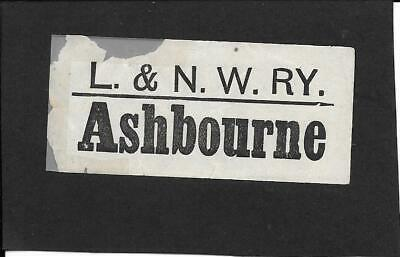 Ashbourne - London & North Western Railway - Luggage Label