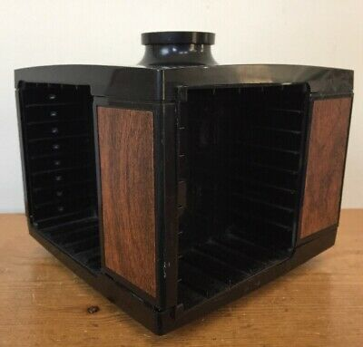 Vtg Dynasound Stow-A-Way Audio Cassette Tape Spinning Storage Module Carousel