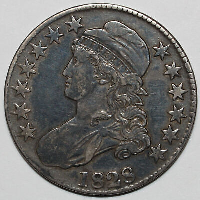 1828 Capped Bust Half Dollar Small 8, Large Letters [SN02]