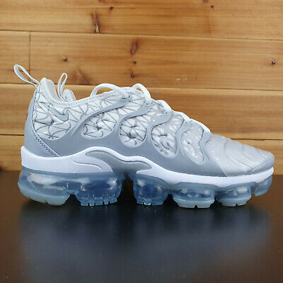 Nike Air VaporMax Plus White Wolf Grey Silver 924453 106 Mens Size 8