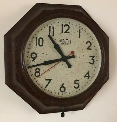 Vintage Smiths Sectric Octagonal Wall Clock, Bakelite.
