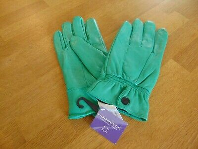 Moonbeck Leather Gloves Ladies Green Jade Size Large Brand New Soft Leather