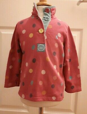 Cute Girls Age UK 3 Years, Joules Spotty Pink Jumper.