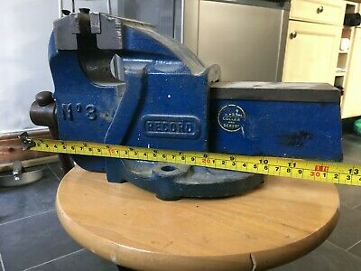 "Record No 3 Engineers Mechanics Bench vice England 4"" 100mm jaws"