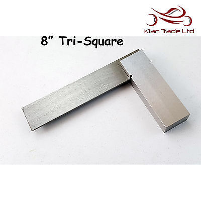 """8"""" inch 200mm Try Square Unmarked Tri 90 Angle Top Quality Wood Carpenter Tool"""