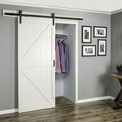 6.6ft/8ft/12ft Sliding Barn Track Rail Door Roller Wood Door Closet Hardware Kit
