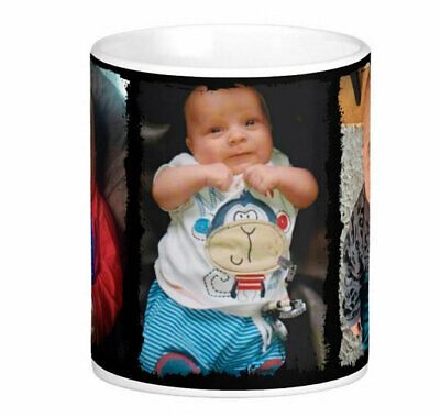 Personalised Mug 3 Photo Collage Mother Father Christmas Gift Tea Coffee Cup