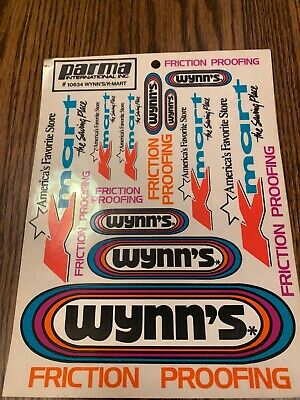 WYNNS FRICTION PROOFING Vintage Classic Retro Stickers Decals 2 off 100mm