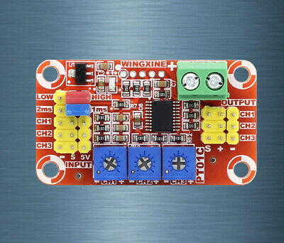 DC 5V-12V 3-Channel Analog Voltage Signal to PWM Signal RC Servo ESC Control DIY