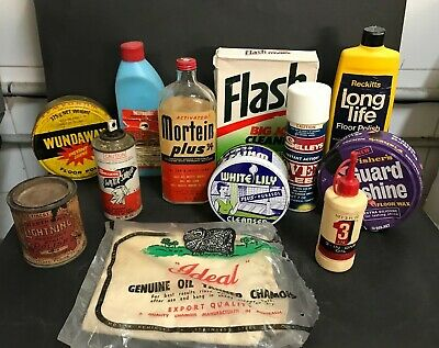 Advertising Vintage Household Cleaning Products Lot Inc: Mortein, Selleys Etc