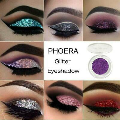 PHOERA@ Eyeshadow Glitter Face Body Professional Shimmer Makeup 12Color Cosmetic
