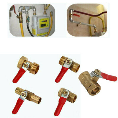 Brass Shut-off Ball Valve Barb Male/Female Thread For Fuel Line/Air/Gas/Water