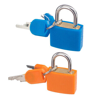 2 X Padlock W. Keys Suitcase Luggage Bag Security Locks For Travel [2 Color]