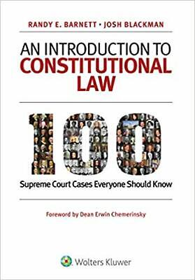 An Introduction to Constitutional Law: 100 Supreme Court... PAPERBACK by Rand...