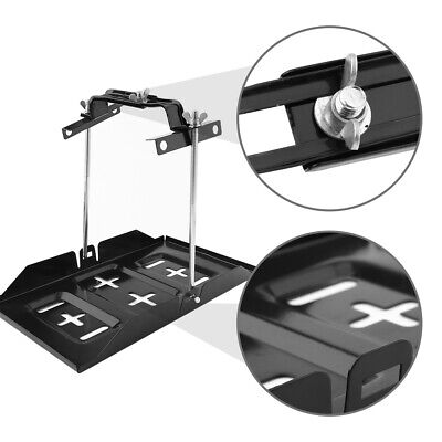 Universal Metal Car / Boat Battery Tray Adjustable 135-190mm Hold Down Clamp Kit