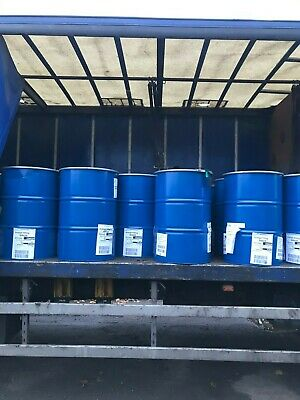 Reconditioned steel 205 litre 45 gallon open top drum with lid & clip