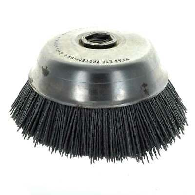 United Abrasives SAIT 04340 6X5/8-11X1-1/2 Nylon Abrasive Cup Brush