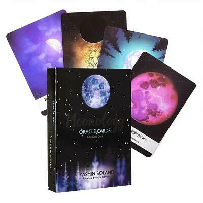 44pcs Tarot Cards Moonology Oracle Magic Board Cards Playing Future Telling Game