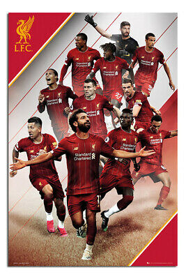 """Liverpool FC Poster 2019 - 2020 Season Players 24x36"""" Official  