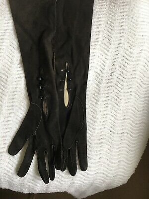 Bundle Ladies Kid Leather Vintage Gloves Size 6.5