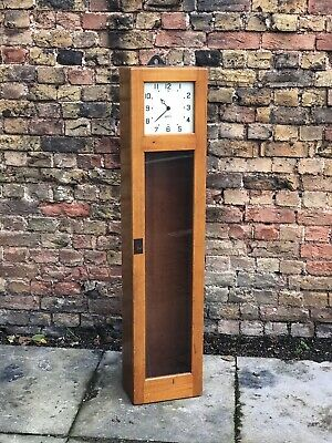 Ex British Railways Gents Of Leicester master clock in oak case.