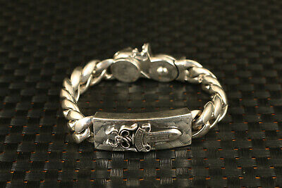 chinese 1997 solid s925 silver big 136g bracelet