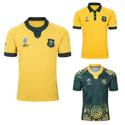 Australia RUGBY JERSEY WORLD CUP HOME Man SHIRT 2019 RWC ADULT Short New Hot