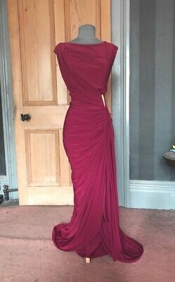 """Gorgeous Phase Eight """"Donna"""" Long Berry Evening Dress, Size 16"""