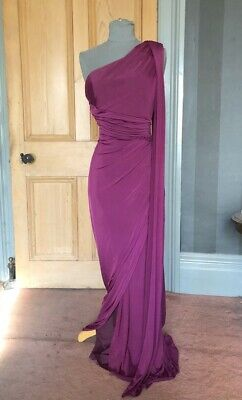 """Gorgeous Phase Eight """"Winnie"""" Long Berry Grecian Evening Dress, Size 12"""