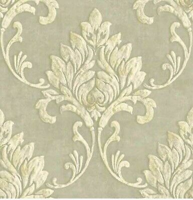 Metallic Gold Faux Wallpaper KT118704 distressed texture washable prepasted